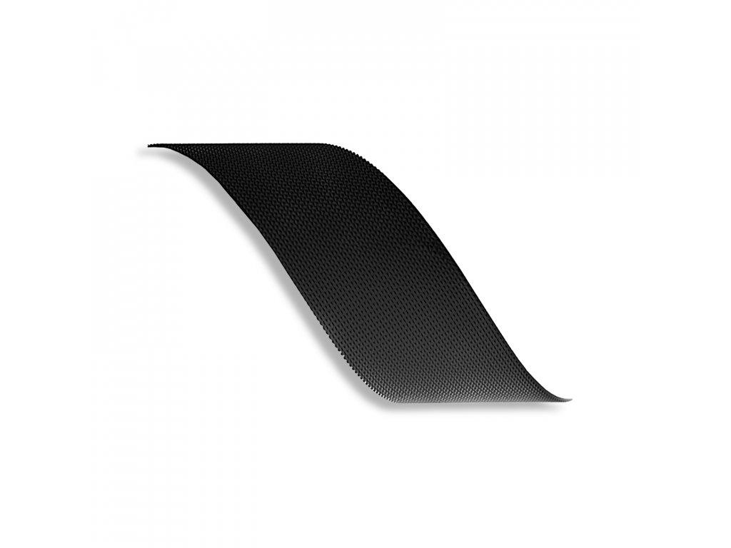 Suchý zips háčik plienkový neškrábavý typ P, šírka 2 cm, Čierna