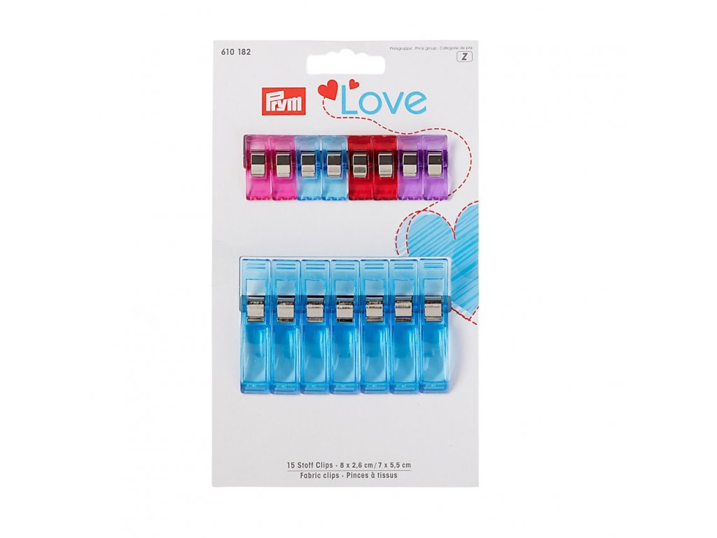 Štipce Prym Love, 15 ks