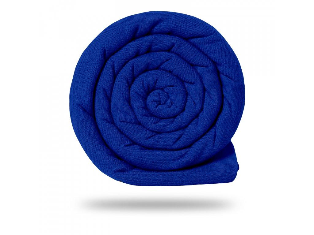 Teplákovina bavlnená nepočesaná 290 g, Tm.modrá kráľovská