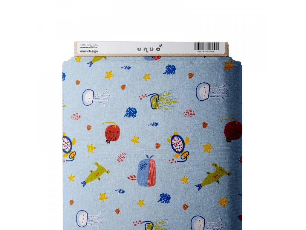 Úplet bavlnený, Korytnačky potápači, Modrá Baby