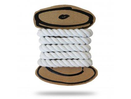 Bavlnená šnúra krútená 1 cm, Balenie 3 m, Biela