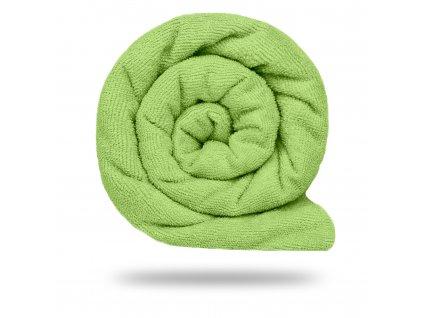 Bavlnené froté s PES, Sviežo Zelená