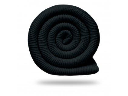 Náplet bavlnený rebrovaný RIB 430 g, Čierna