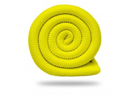 Bavlnený náplet rebrovaný / RIB 430 g, Žltá