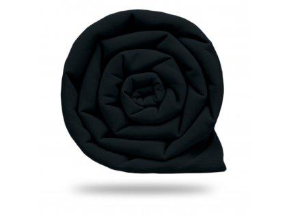 Plátno bavlnené elastické 235 g, Čierna