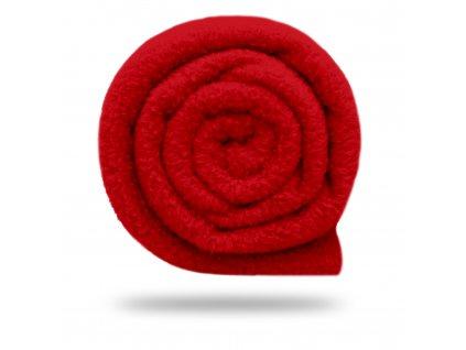 Fleece antipilling 190 g, Červená Ferrari