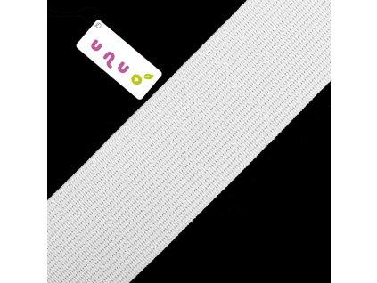 Guma prádlová hladká 0,5 cm, Balenie 3 m, Biela
