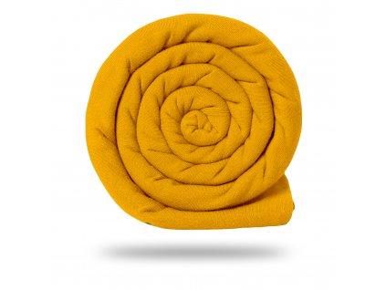 Úplet bavlnený 210 g, Tm. Žltá