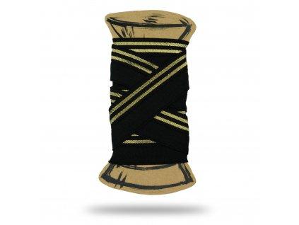 Lemovacia guma s lurexom 2 cm, Balenie 3 m, Čierna, Zlatá