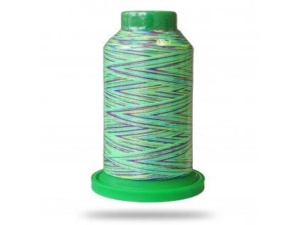 Niť Isacord multikolor 1000 m, Neónová zelená, fialová, modrá