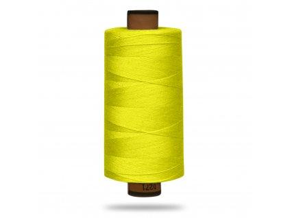 Niť polyesterová Belfil S 1000 m, 1426, Žltá Neon