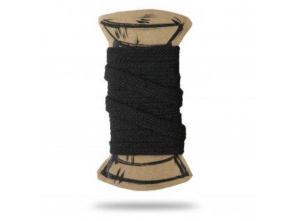 bavlnena stuha cerna