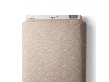 36669 3 platno bavlnene geometricke linky bezova