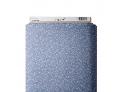 36666 3 platno bavlnene geometricke linky sv modra