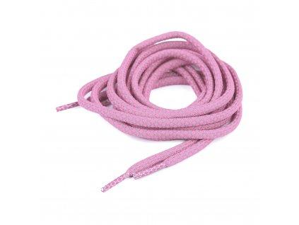 Reflexná šnúrka do topánok, mikín 125 cm, Ružová