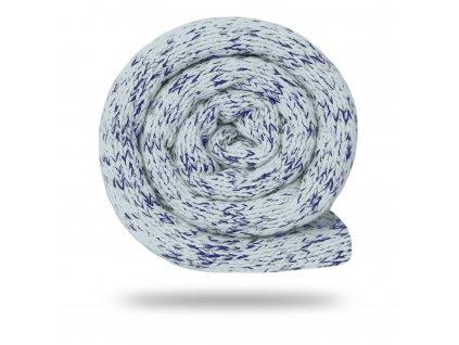 Svetrovina fleecová 280 g, Melír, Sv.Sivá s tm.modrú
