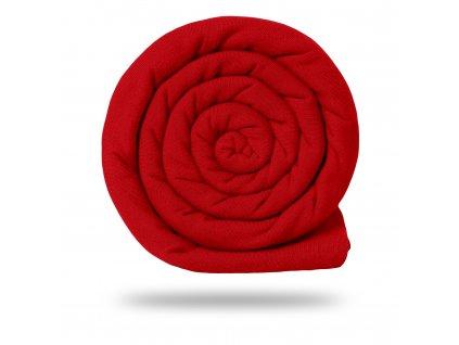 Teplákovina bavlnená nepočesaná 290 g, Červená ferrari