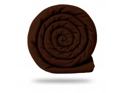 Teplákovina bavlnená nepočesaná 290 g, Tm.Hnedá horká čokoláda