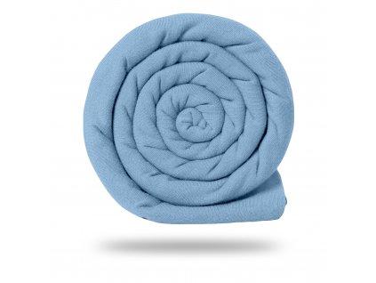 Teplákovina bavlněná nepočesaná 245 g, Modrá Pastelová