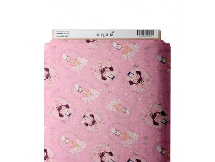 Unuo tlač, Funkčná tričkovina Vernom 115 g, Dievčatká na ružovej