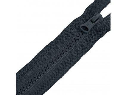 Zips kosticový deliteľný, 30 cm, Tm.šedá