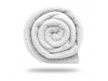 Fleece antipilling jednostranný 140 g, Bílá