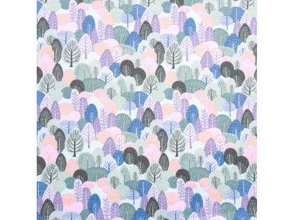 Úplet bavlnený, Medzi stromami, Modrá Baby