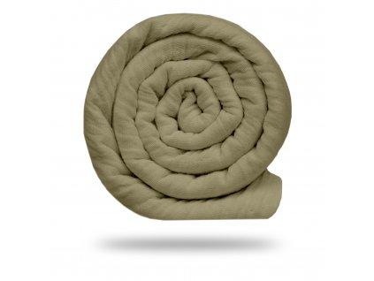 Mušelín bambusový s bavlnou 130 g, Sv. Moka