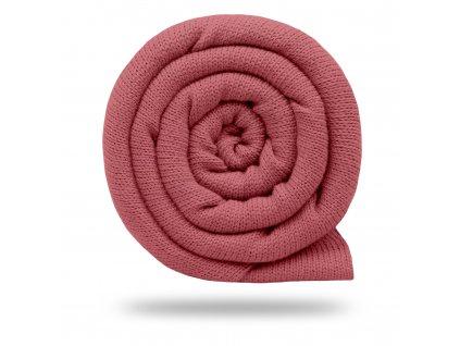 Svetrovina bavlnená 450 g, Starorůžová Výrazná