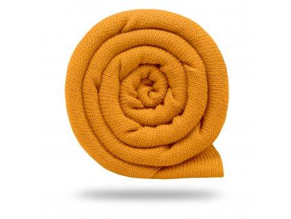 Svetrovina bavlnená 450 g, Horčicová Tlmená
