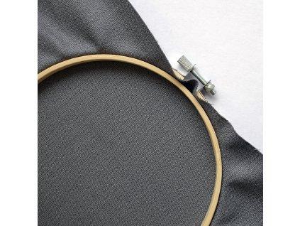 Plátno ľanové elastické 240 g, Čierna