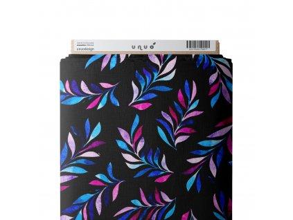 Funkčné úplet Tommy Microfresh počesaný 200 g, dúhové lístky, čierna