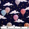 Úplet bavlnený, Čarovný let balónom, Tm. Modrá Sýta