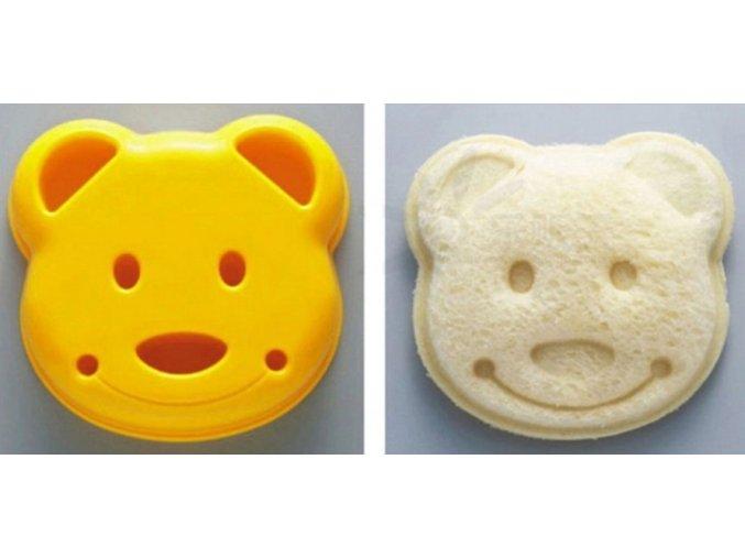 Vykrajovací forma na sendviče - medvídek