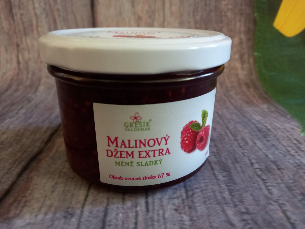 Džem Malinový extra Méně sladký 210 g