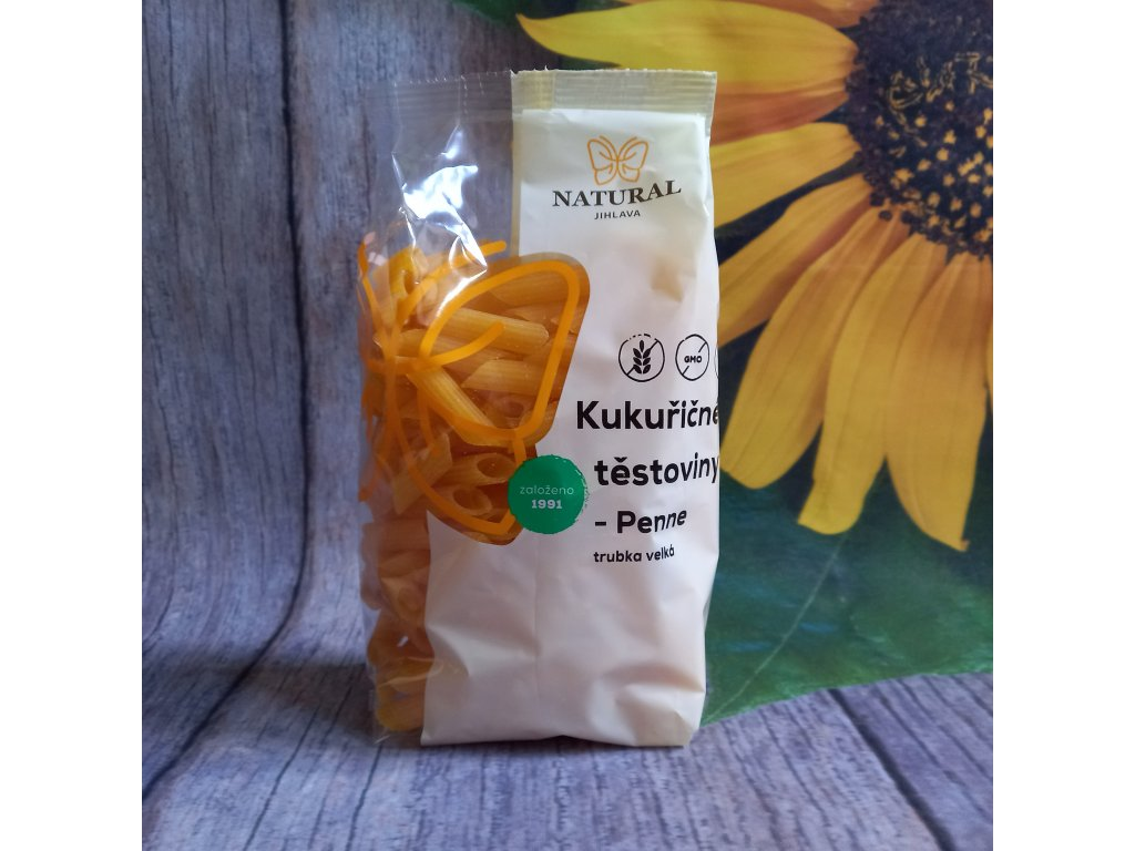 Těstoviny kukuřičné Penne - Natural 300g