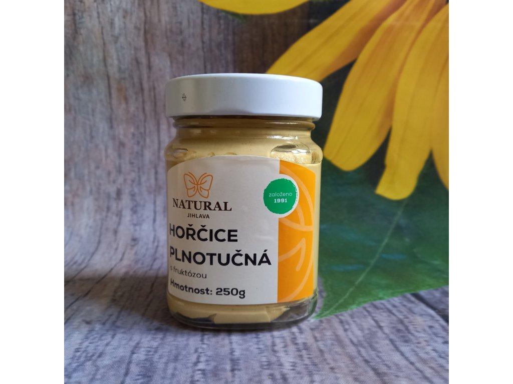 Hořčice plnotučná s fruktózou - Natural 250g