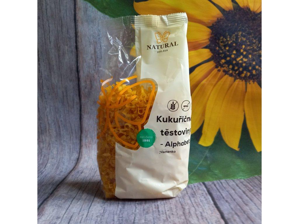 Těstoviny kukuřičné - Alphabet (písmenka) - Natural 300g