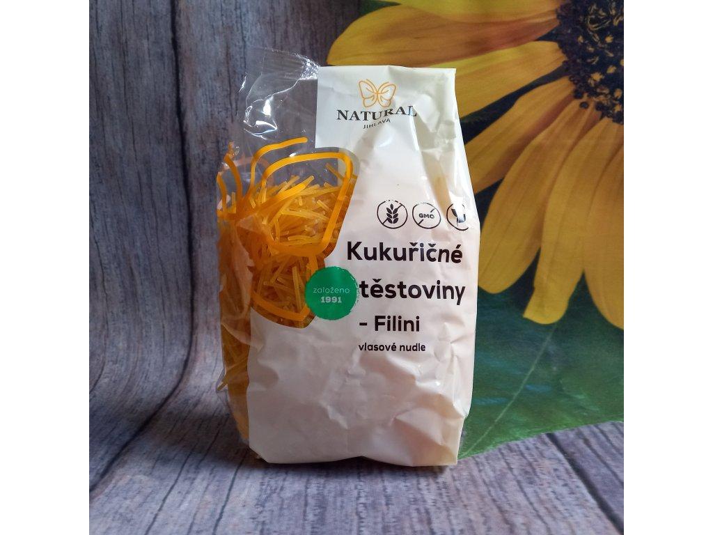 Těstoviny kukuřičné - Filini (vlasové nudle) - Natural 300g