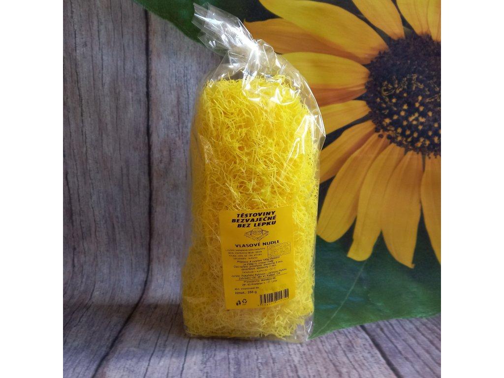 Těstoviny kukuřičné - vlasové nudle bez lepku - Rytinová 250g
