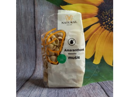 Těstoviny amaranthové mušle - Natural 300g