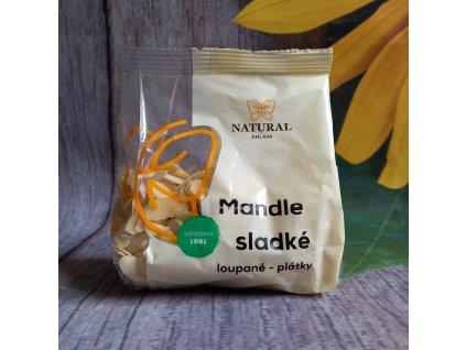 Mandle sladké loupané - plátky 100g