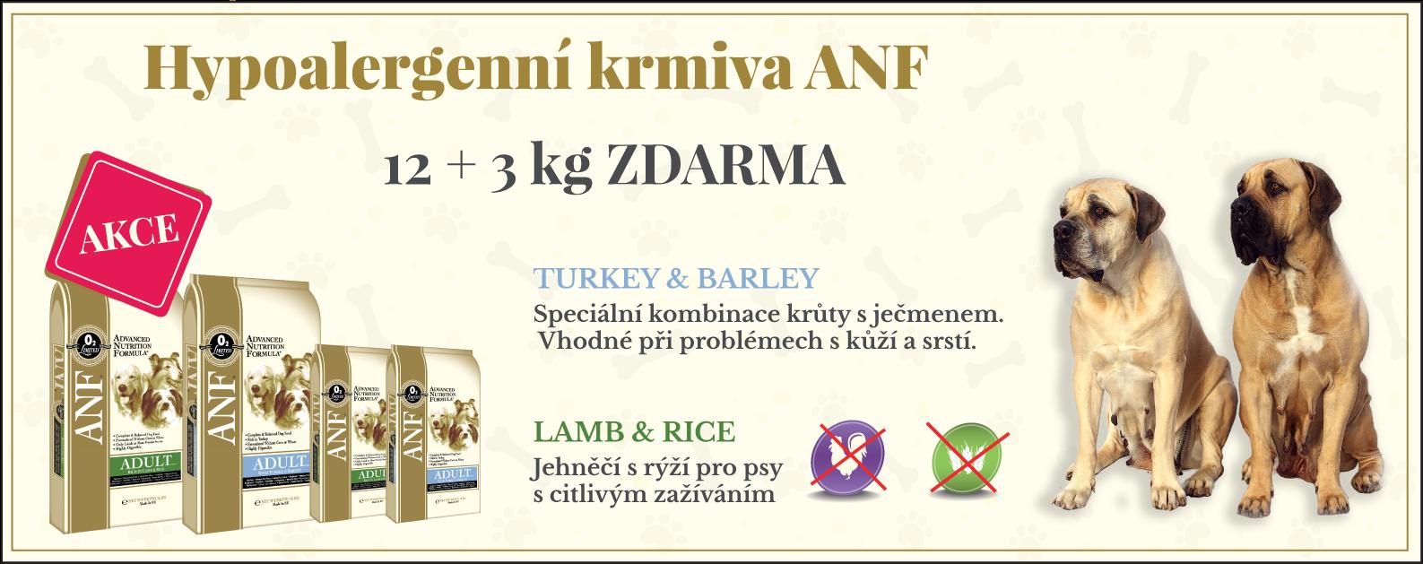 Krmivo ANF Canine 12 + 3kg ZDARMA