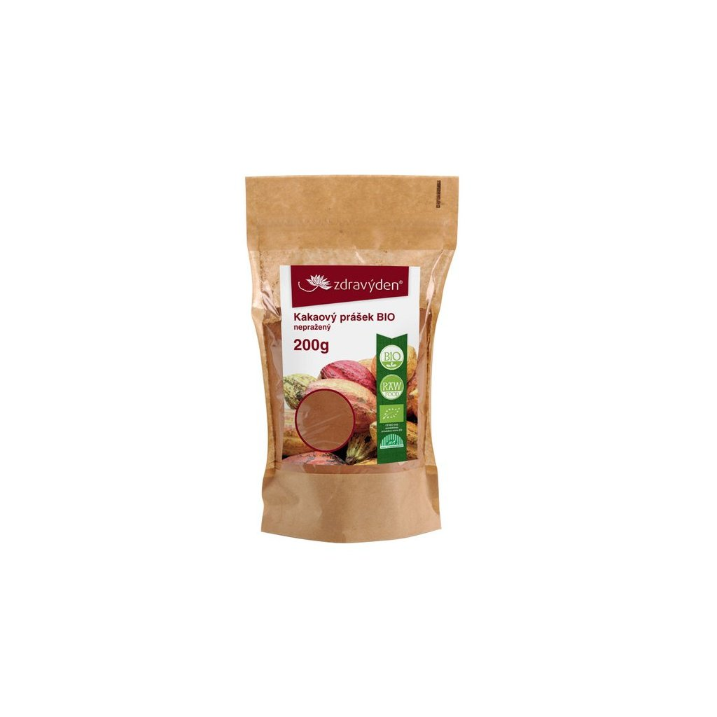 Zdravý den Kakaový prášek BIO nepražený (Hmotnost 500g)
