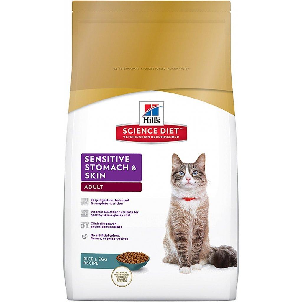 Hills feline skin stomach
