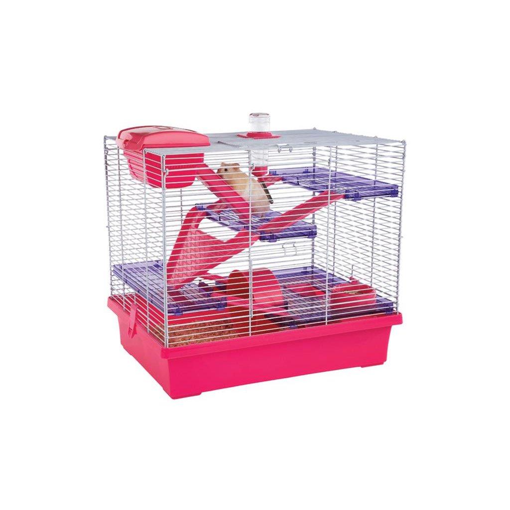 Klec hlodavec/křeček Pico XL růžová/fialová RW 50 x 36 x 47 cm