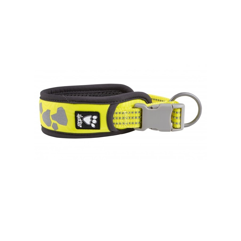 hurtta weekend warrior collar neon lemon