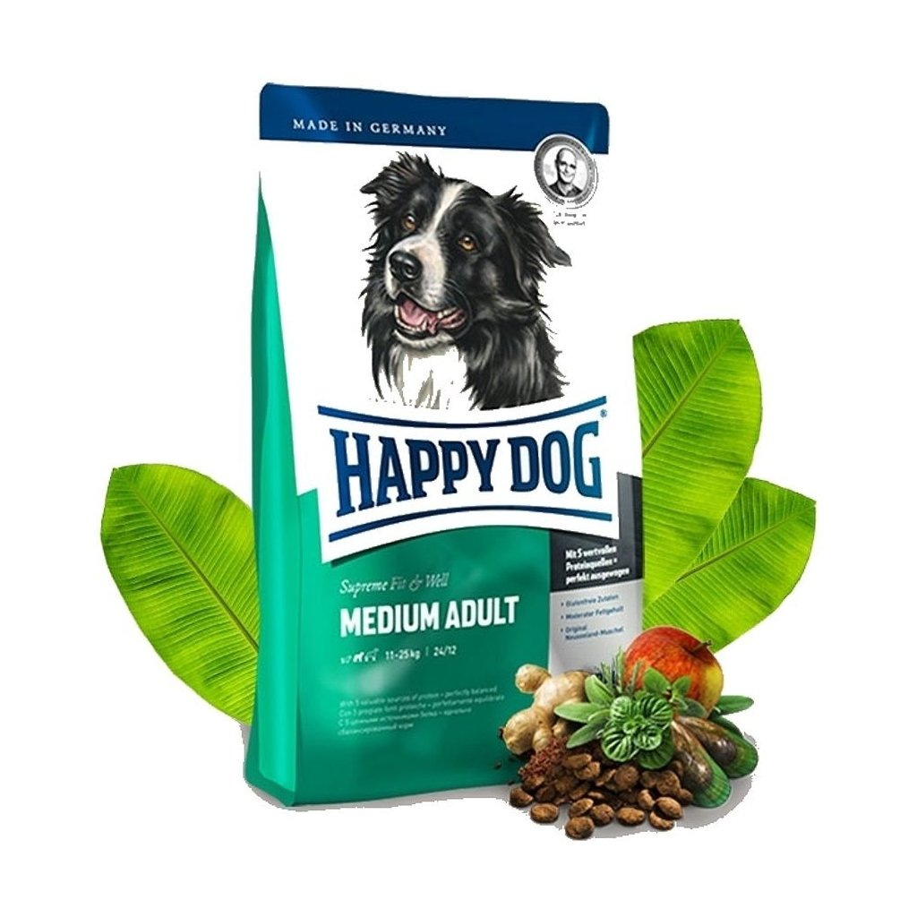 HAPPY DOG Supreme Fit & Well Adult Medium 12 kg