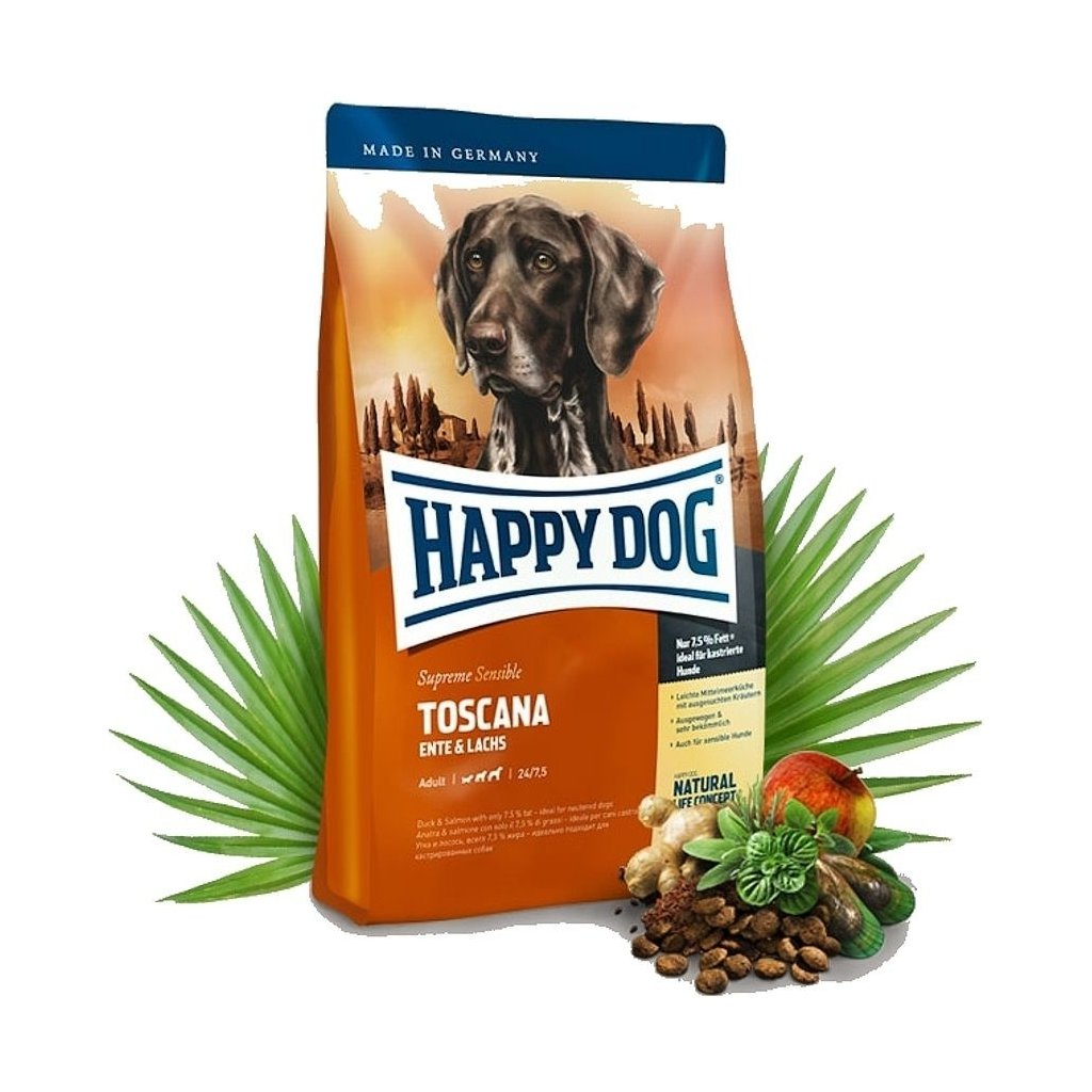 HAPPY DOG Supreme Sensible Lamb Toscana 12,5 kg  + CASHBACK 40,- Kč
