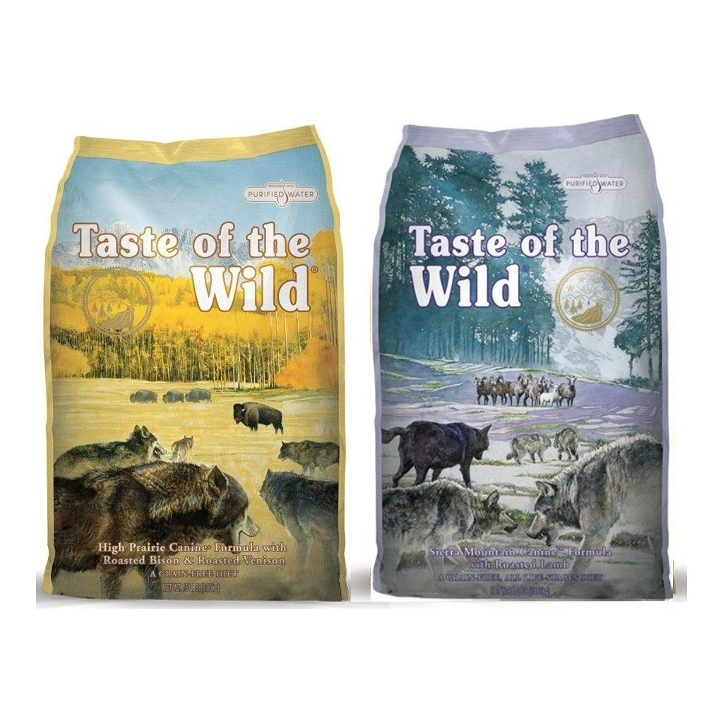 TASTE OF THE WILD High Praire Canine 12,2 kg + TASTE OF THE WILD Sierra Mountain Canine 12,2 kg